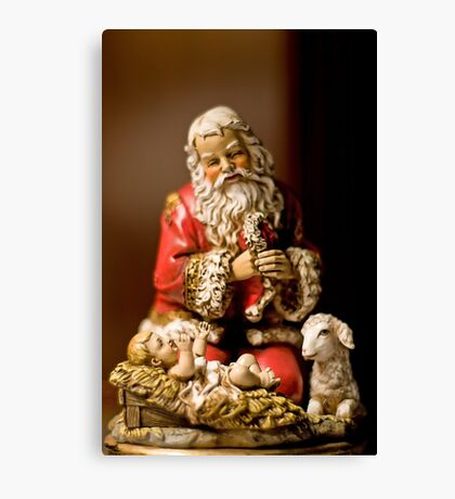 Kneeling Santa Canvas Print