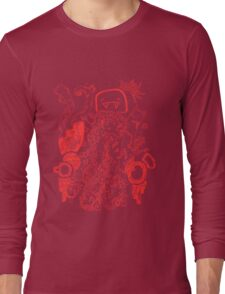 Doodle 66 Red Long Sleeve T-Shirt