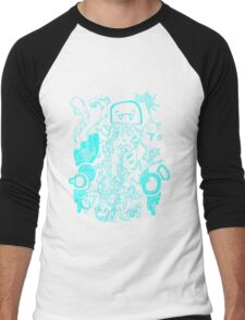 doodle 66 Blue Men's Baseball ¾ T-Shirt