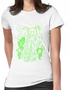Doodle 66 Green Womens Fitted T-Shirt