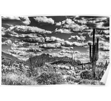 Cotton Candy Clouds in Black and White  Poster