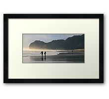 Piha Walkers Framed Print