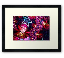stars and hearts spherical Framed Print
