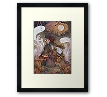 The Gathering - Kitten Witch Ghost Halloween Framed Print