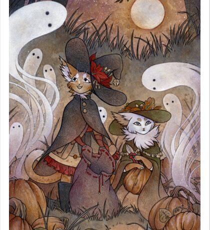 The Gathering - Kitten Witch Ghost Halloween Sticker