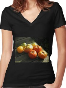 Clay's Garden 02 Women's Fitted V-Neck T-Shirt