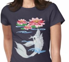 Silver Koi-Pink and Pink Lilies Womens Fitted T-Shirt