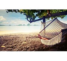 hammock surfing surf water ocean sea miami mexico partying fun party fun holidays crazy friend friends chill chilling family memories funtimes Photographic Print