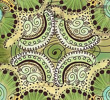 Belle Epoque Pattern Greeting Card  by Janet Antepara