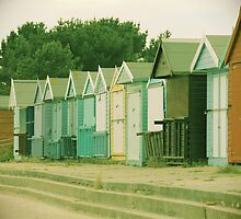 Mudeford Beach Huts by AllyC