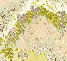 iPhone Case Nouveau Floral by Melanie  Dooley