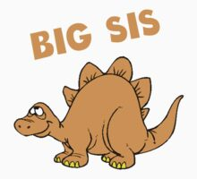 Big Sis Dinosaur Kids Tee