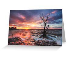 Sea Sunset Greeting Card