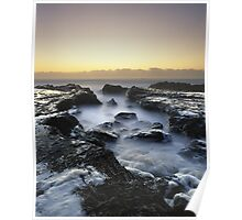 """A Foamy Reception"" ∞ Currumbin, QLD - Australia Poster"