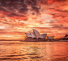 Fire in the Sky - Sydney Opera House by Stephane Milbank