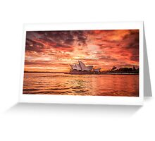 Fire in the Sky - Sydney Opera House Greeting Card