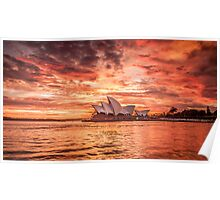Fire in the Sky - Sydney Opera House Poster