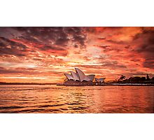 Fire in the Sky - Sydney Opera House Photographic Print