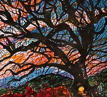 Tree at Sunset by Nira Dabush