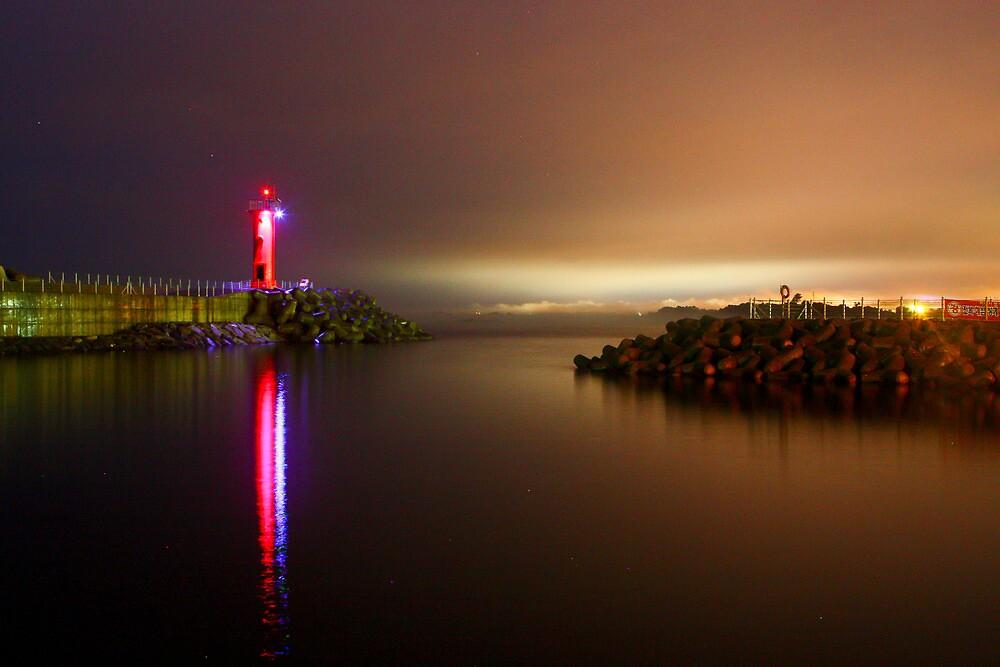 Korean East Coast by Night by AdamRussell