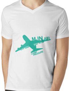 MJN Air (Green) Mens V-Neck T-Shirt