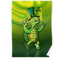 Saint Patrick's Day Turtle Poster