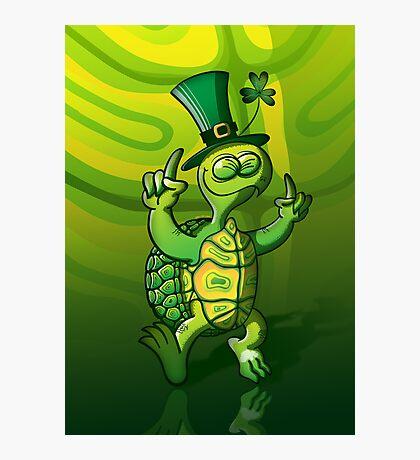 Saint Patrick's Day Turtle Photographic Print
