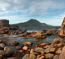 Port Stephens Castle - pano  by Michael Howard