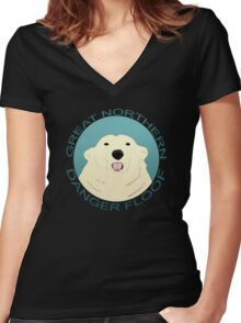 The Great Northern Danger Floof Women's Fitted V-Neck T-Shirt