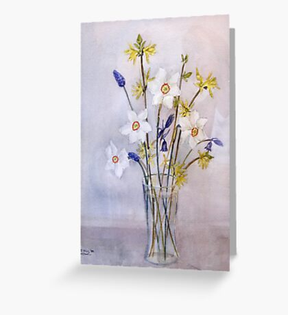 Little Spring Flowers Greeting Card
