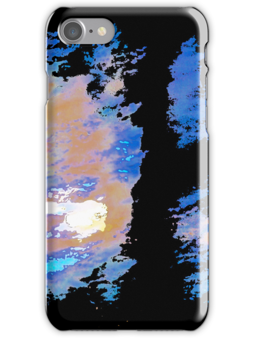 Abstract Color Splashes iPhone Case by Glennis  Siverson