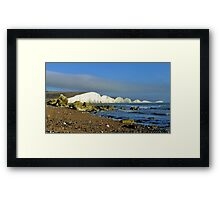 The Seven Sisters from the beach Framed Print