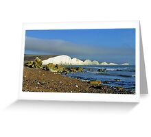 The Seven Sisters from the beach Greeting Card