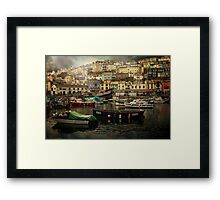 Harbour and boats Framed Print