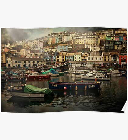 Harbour and boats Poster