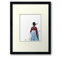 Lady wainting for someone Framed Print