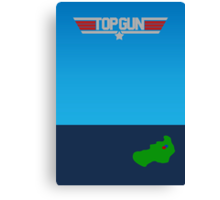 Top Gun - Minimal Poster 2 Canvas Print