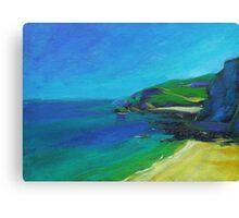 Acrylic painting of Cornish Coast Canvas Print