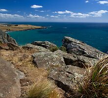 Bass Strait from The Nut - Stanley, Tasmania by clickedbynic