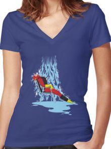 Flashdance Women's Fitted V-Neck T-Shirt