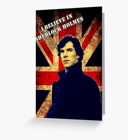 SherlockBelieveFlag Greeting Card