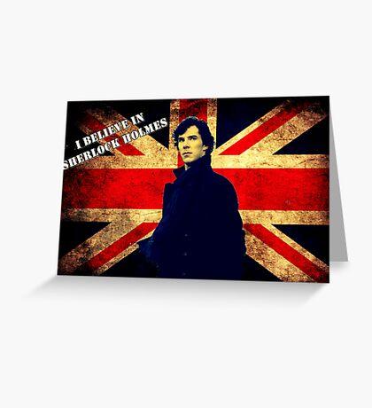 SherlockBelieveUnionJack Greeting Card