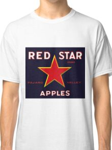 Red Star Apples Vintage Advertisement Classic T-Shirt