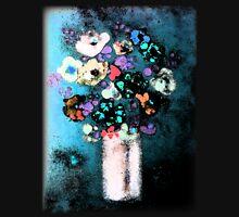 """Glazed Flowers in Column Vase""© Womens Fitted T-Shirt"