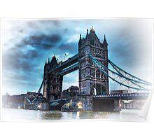 Tower Bridge Blue Poster