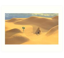 Desert hut Art Print
