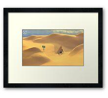Desert hut Framed Print