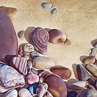 """Pallette of stones - Hallett Cove beach SA"" by Elena Kolotusha"