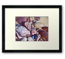 """""""Pallette of stones - Hallett Cove beach SA"""" - detail  Framed Print"""