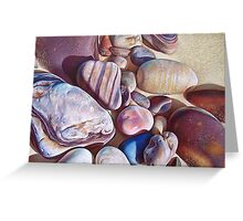 """Pallette of stones - Hallett Cove beach SA"" - detail  Greeting Card"
